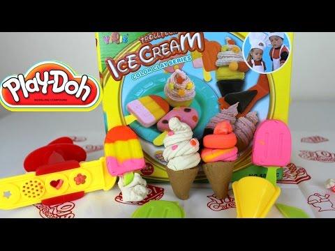 PLAY DOH ICE CREAM | Helados de Plastilina Play Doh |Mundo de Juguetes