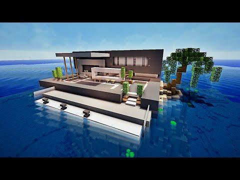 Minecraft maison moderne avec Xroach ! #2
