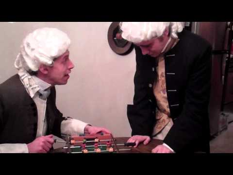 Benjamin Franklin Fixes the Foosball Game for Madison