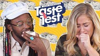 Tasting SMELLY Foods 👃 TASTE TEST! - FOODNETWORKTV