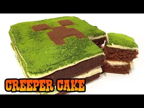 How to Make MINECRAFT CREEPER CAKE- Kids Baking Lesson