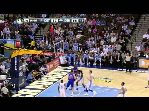 Ben Gordon hits record 9/9 three pointers vs. Nuggets (Mar 21, 2012)