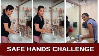 PV Sindhu & Sania Mirza Accepted Safe Hands Challenge - RAJSHRITELUGU