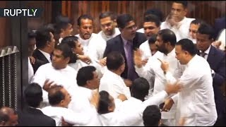Fists fly at Sri Lankan parliament session in massive brawl over PM - RUSSIATODAY
