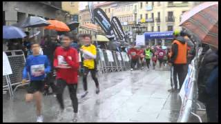 Casi 3.000 atletas desafiaron a la lluvia en la Media Maratón Ciudad de Segovia