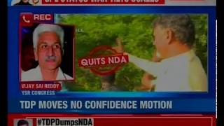 TDP lashes out after breaking alliance with NDA; to move no-confidence motion in Parliament today - NEWSXLIVE