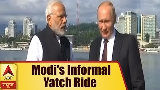 Watch PM Modi take informal yacht ride with President Putin - ABPNEWSTV