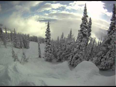 Jackson Hole GoPro powder morning session