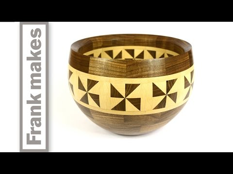 Segmented Walnut and Maple Bowl
