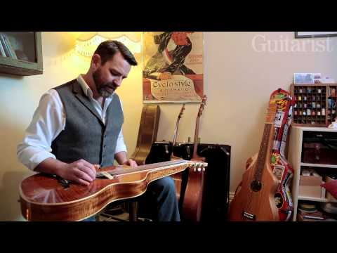 Martin Harley: beginner's slide guitar/lap steel lick lesson with bass line