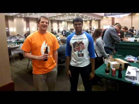Rob Tilly and Nick Nanavati at AdeptiCon finals