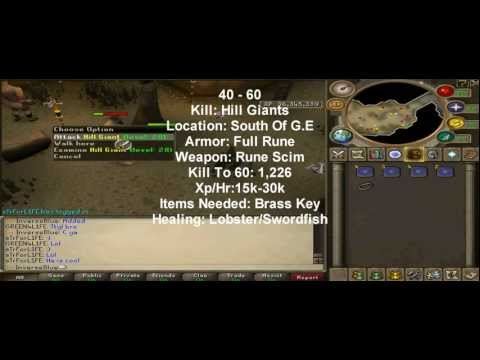 [HD]Runescape 1 - 99 Combat Guide P2P & F2P (Attack/Strength/Defence)