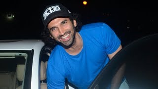Aditya Roy Kapur steps out for a late night movie - TIMESOFINDIACHANNEL
