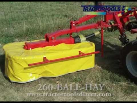 Galfre 130 Drum Mower - Hay Mower for Compact Tractors