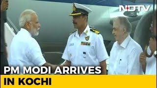 PM Reaches Kochi To Take Aerial Survey Of Flood-Hit Kerala - NDTV