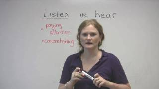 Listen and Hear What is the difference video lesson, engvid