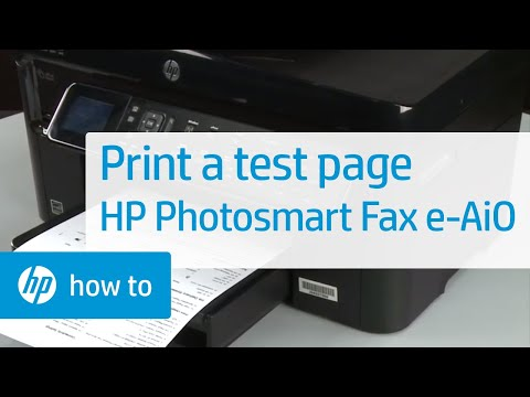 Printing a Test Page - HP Photosmart Premium Fax e-All-in-One Printer (C410a)