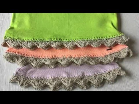 How to Crochet on Fabric  with Crochet Edging.