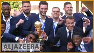 🇫🇷 World Cup winners: Heroes' welcome for France players | Al Jazeera English - ALJAZEERAENGLISH