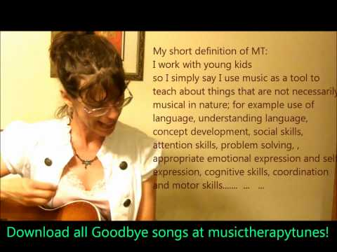 12  GOODBYE SONGS for Music Therapy &amp; Education 4 Kids early childhood pre-k &amp; Kindergarten +