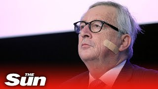 Plastered Juncker: 'Don't blame Theresa May' - THESUNNEWSPAPER