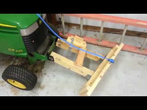 Homemade snow plow for lawnmower for $12! How to.