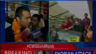 Grand welcome for CWG heroes on their return; NewsX exclusively speaks to champs - NEWSXLIVE