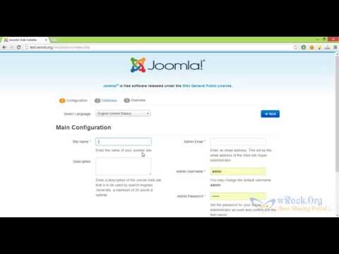 How to Install joomla Website on Server