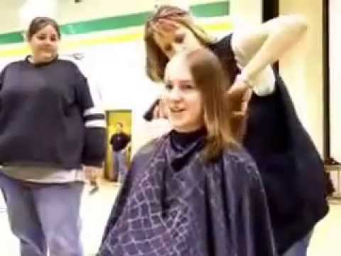 collage girl's headshave