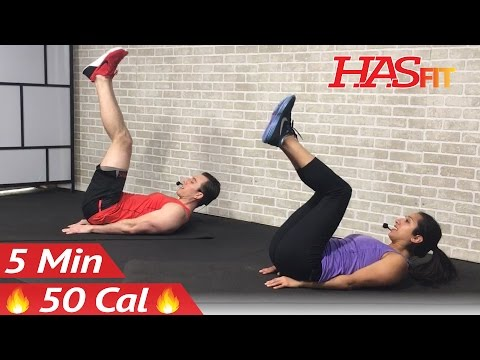 5 Min Lower Ab Workout for Women & Men - 5 Minute Lower Abs Belly Fat Flattener Stomach Workout