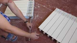 Алюминиевый радиатор отопления, как добавить скрутить секции, нарастить и открутить батарею