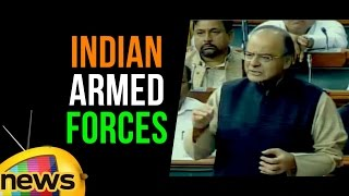 Arun Jaitley Speech Responds To Opposition Allegations On Indian Armed Forces Budget | - MANGONEWS