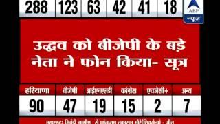 Shiv Sena chief Uddhav Thackeray gets a phone call from a BJP leader amid his PC - ABPNEWSTV