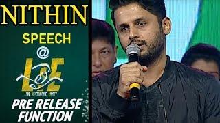 Nithin Emotional Speech at #LIE Movie Pre Release Event - Arjun, Megha Akash | Hanu Raghavapudi - 14REELS