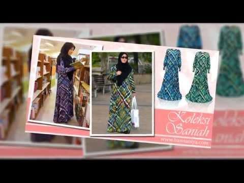 Jubah Dress Moden Lycra Koleksi Saniah dari Butik Online Hannaniya