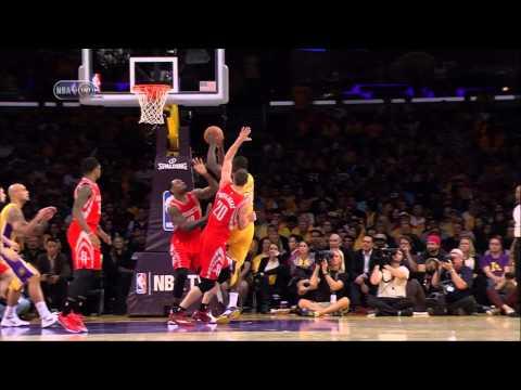 Julius Randle injury (broken leg) in NBA debut -- Rockets at Lakers