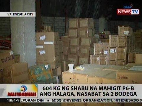 BT: 604 kg ng shabu na mahigit P6-B ang halaga, nasabat sa 2 bodega sa Valenzuela City