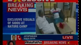 Dharmasthala: NewsX gets you the exclusive visuals of Siddaramaiah from the nature camp - NEWSXLIVE