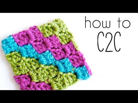 How to crochet C2C | Corner to Corner crochet tutorial ♥ CROCHET LOVERS