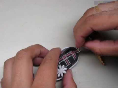 COMO HACER ZAPATITO EN FOAMI ESTAMPADO (HOW TO MAKE SMALL FOAM SHOE)