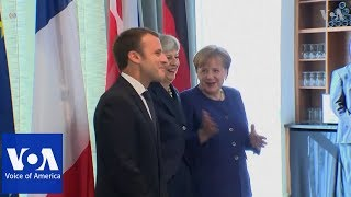 Macron, May and Merkel hold trilateral meeting - VOAVIDEO