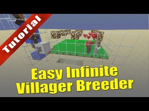 Minecraft - Tutorial: Easy Infinite Villager Breeder (Works in 1.8 snapshots!)