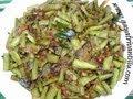 How to make Goruchikkudu (Cluster Beans) Ullipaya (Onion) Koora- Andhra Recipes – Telugu Vantalu