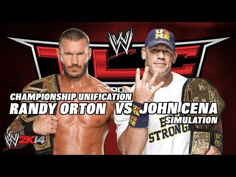 WWE2K14 TLC Randy Orton vs John Cena Undisputed Championship (EPIC Simulation)