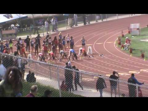 Redondo Invitational: Girls 100 Heat 3