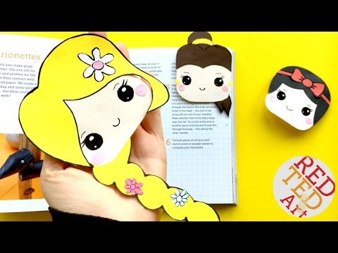 Tangled Bookmar DIY - Rapzunel Corner Bookmark How To - Disney Princesses Crafts