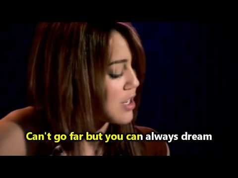 Miley Cyrus - Butterfly fly away (Sing Along)