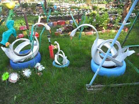 Поделки для сада, своими руками