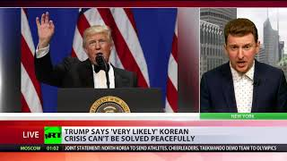 Trump says 'very likely' Korean crisis can't be solved peacefully - RUSSIATODAY