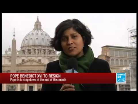 Seema Gupta reports from Rome on the Pope's resignation